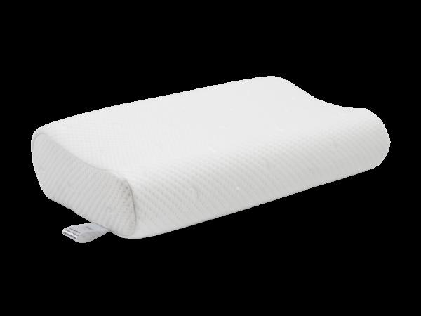 Анатомическая подушка с влаго-защитным чехлом среднего размера 60×40×10-12 см 1