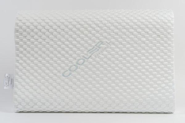 Анатомическая подушка со съемным охлаждающим чехлом среднего размера 60×40×10-12 см 2