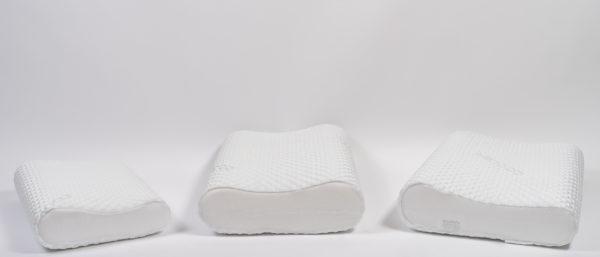 Анатомическая детская подушка со съемным охлаждающим чехлом 49×33×9.5-11.5 см 2