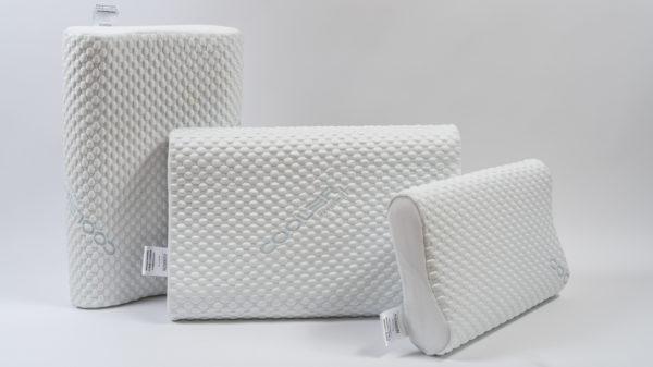 Анатомическая подушка со съемным охлаждающим чехлом большого размера 60×40×12-14 см 5