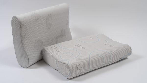 Анатомическая детская подушка со съемным чехлом с рисунком 49×33×9.5-11.5 см 3