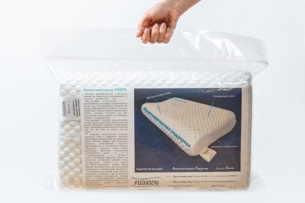 Анатомическая подушка большого размера 60×40×12-14 см 2