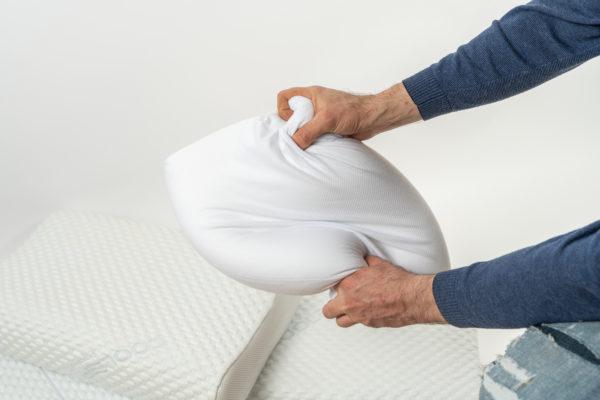 Анатомическая подушка большого размера 60×40×12-14 см 3