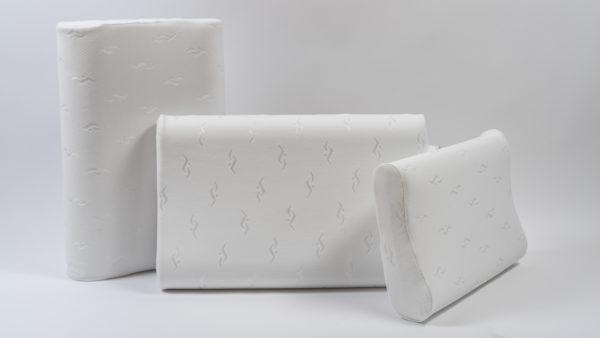 Анатомическая подушка со съемным чехлом среднего размера 60×40×10-12 см 2